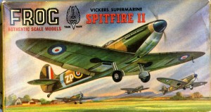 Every Boy's favourite The Spitfire MK 2 issued in 1959 as 394P This model together with the FW190 were the best selling models in the history of Frog and Total sales exceeded 700,00