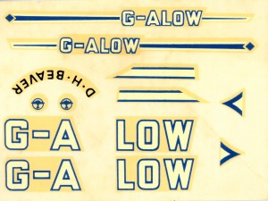 The decal sheet, after 60 years still looks usable